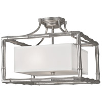 Crystorama Libby Langdon Masefield 3 Light Semi Flush Mount in Antique Silver 9013-SA