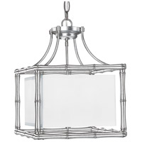 Crystorama Libby Langdon Masefield 4 Light Pendant in Antique Silver 9014-SA