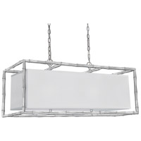 Crystorama Libby Langdon Masefield 6 Light Pendant in Antique Silver 9017-SA