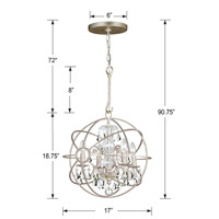 Crystorama 9025-OS-CL-MWP Solaris 4 Light 17 inch Olde Silver Mini Chandelier Ceiling Light in Olde Silver (OS), Clear Hand Cut alternative photo thumbnail