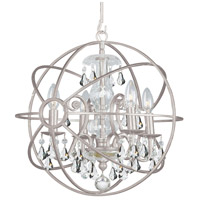 Solaris 4 Light 17 inch Olde Silver Mini Chandelier Ceiling Light in Olde Silver (OS), Clear Swarovski Strass