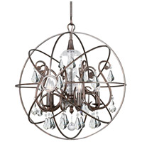 Solaris 5 Light 22 inch English Bronze Chandelier Ceiling Light in English Bronze (EB), Clear Hand Cut