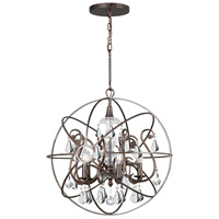 Crystorama 9026-EB-CL-MWP Solaris 5 Light 22 inch English Bronze Chandelier Ceiling Light in English Bronze (EB), Clear Hand Cut alternative photo thumbnail