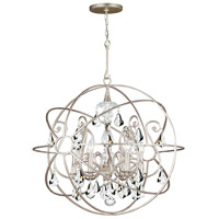 Solaris 5 Light 22 inch Olde Silver Chandelier Ceiling Light in Olde Silver (OS), Clear Hand Cut