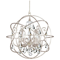 Solaris 5 Light 22 inch Olde Silver Chandelier Ceiling Light in Olde Silver (OS), Clear Swarovski Strass
