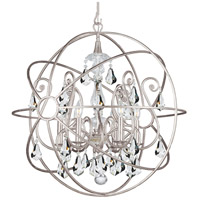 Solaris 6 Light 28 inch Olde Silver Chandelier Ceiling Light in Olde Silver (OS), Clear Hand Cut