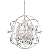 Solaris 6 Light 28 inch Olde Silver Chandelier Ceiling Light in Olde Silver (OS), Clear Swarovski Strass