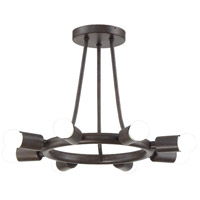 Dakota 8 Light 15 inch Charcoal Bronze Semi Flush Mount Ceiling Light
