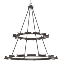 Crystorama 9049-CZ Dakota 33 Light 42 inch Charcoal Bronze Chandelier Ceiling Light