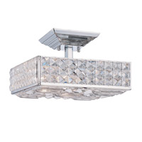Crystorama Chelsea 3 Light Semi-Flush Mount in Polished Chrome with Hand Cut Crystals 909-CH-CL-MWP