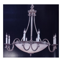 Crystorama Bravado Alabaster 13 Light Chandelier in Pewter 9108-PW