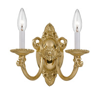 Crystorama Arlington 2 Light Wall Sconce in Polished Brass 9112-PB