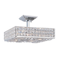 Crystorama Chelsea 4 Light Semi-Flush Mount in Polished Chrome 914-CH-CL-MWP