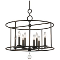 Crystorama 9166-EB Cameron 8 Light 24 inch English Bronze Chandelier Ceiling Light