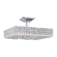 Crystorama Chelsea 6 Light Semi-Flush Mount in Polished Chrome with Hand Cut Crystals 918-CH-CL-MWP