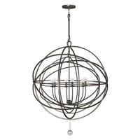 Crystorama Solaris 6 Light Chandelier in English Bronze 9209-EB