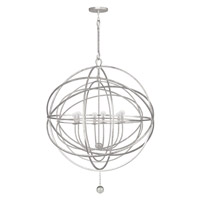 Crystorama Solaris 6 Light Chandelier in Olde Silver 9209-OS photo thumbnail