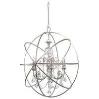 Crystorama 9219-OS-CL-SAQ Solaris 6 Light 40 inch Olde Silver Chandelier Ceiling Light in Swarovski Spectra (SAQ) Olde Silver (OS)