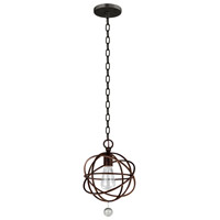 Crystorama Solaris 1 Light Semi Flush Mount in English Bronze 9220-EB