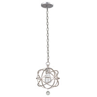 Solaris 1 Light 9 inch Olde Silver Pendant Ceiling Light in Olde Silver (OS)