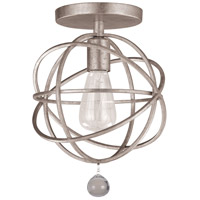 Crystorama 9220-OS_CEILING Solaris 1 Light 9 inch Olde Silver Semi Flush Mount Ceiling Light in Olde Silver (OS)