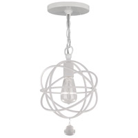 Solaris 1 Light 9 inch Wet White Pendant Ceiling Light in Wet White (WW)