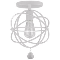 Solaris 1 Light 9 inch Wet White Flush Mount Ceiling Light in Wet White (WW)