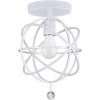 Crystorama 9220-WW_CEILING Solaris 1 Light 9 inch Wet White Flush Mount Ceiling Light in Wet White (WW)