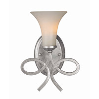 Crystorama Solaris 1 Light Wall Sconce in Olde Silver 9221-OS