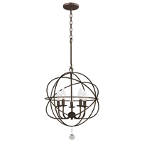 Crystorama 9224-EB Solaris 5 Light 17 inch English Bronze Mini Chandelier Ceiling Light in English Bronze (EB)