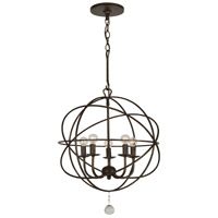 Crystorama 9224-EB Solaris 5 Light 17 inch English Bronze Mini Chandelier Ceiling Light in English Bronze (EB) alternative photo thumbnail