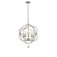 Crystorama 9224-OS Solaris 5 Light 17 inch Olde Silver Mini Chandelier Ceiling Light in Olde Silver (OS)