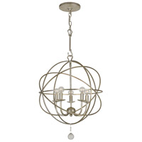 Crystorama 9224-OS Solaris 5 Light 17 inch Olde Silver Mini Chandelier Ceiling Light in Olde Silver (OS) alternative photo thumbnail