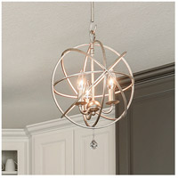 Crystorama 9225-OS Solaris 3 Light 13 inch Olde Silver Mini Chandelier Ceiling Light in Olde Silver (OS), 12.5-in Width alternative photo thumbnail