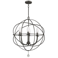 Crystorama Solaris 6 Light Chandelier in English Bronze 9226-EB photo thumbnail