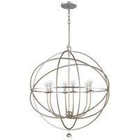 Crystorama Solaris 6 Light Chandelier in Olde Silver 9226-OS photo thumbnail