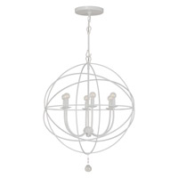 Crystorama Solaris 6 Light Chandelier in Wet White 9226-WW photo thumbnail