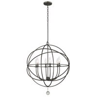Crystorama Solaris 6 Light Chandelier in English Bronze 9228-EB