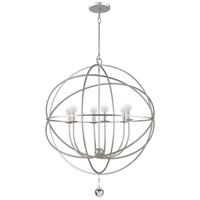 Crystorama Solaris 6 Light Chandelier in Olde Silver 9228-OS