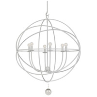 Crystorama Solaris 6 Light Chandelier in Wet White 9228-WW photo thumbnail