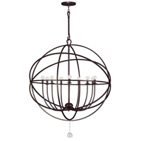 Crystorama Solaris 9 Light Chandelier in English Bronze 9229-EB photo thumbnail