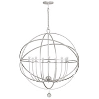 Crystorama Solaris 9 Light Chandelier in Olde Silver 9229-OS