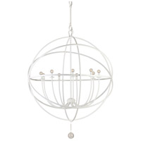 Crystorama Solaris 9 Light Chandelier in Wet White 9229-WW