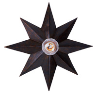 Crystorama Astro 1 Light Flush Mount in English Bronze 9230-EB