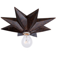 Astro 1 Light 12 inch English Bronze Flush Mount Ceiling Light