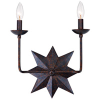Crystorama Astro 2 Light Wall Sconce in English Bronze 9232-EB