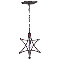 Astro 1 Light 13 inch English Bronze Mini Chandelier Ceiling Light in English Bronze (EB)