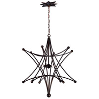 Crystorama Astro 4 Light Chandelier in English Bronze 9236-EB