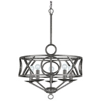 Crystorama 9245-EB Odette 5 Light 17 inch English Bronze Mini Chandelier Ceiling Light