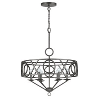 Crystorama Odette 6 Light Chandelier in English Bronze 9246-EB